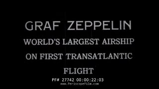 GRAF ZEPPELIN DIRIGIBLE 1928 TRANS-ATLANTIC FLIGHT 27742