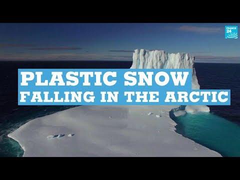 Plastic snow falling in the Arctic
