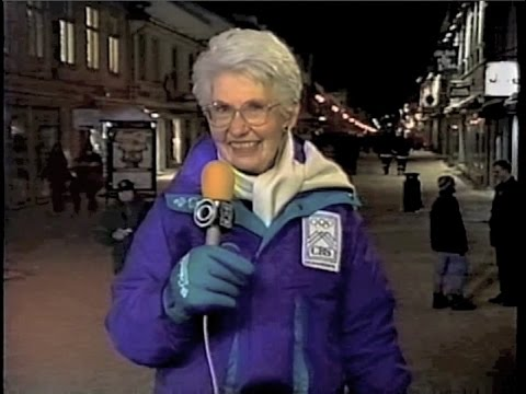 Dave's Mom at Lillehammer Collection on Late Show, February 1994