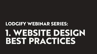 Lodgify Direct Booking Webinar Series: Best Practices for Your Vacation Rental Website