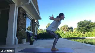 Strong Yoga Boat to Chair Pose