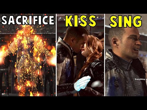 Markus Sing vs Kiss North vs Sacrifice - Detroit Become Human HD PS4 Pro