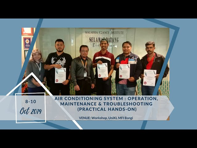 19, Oct 8 | Air Conditioning System : Operation, maintenance & Troubleshooting (practical Hands-on)