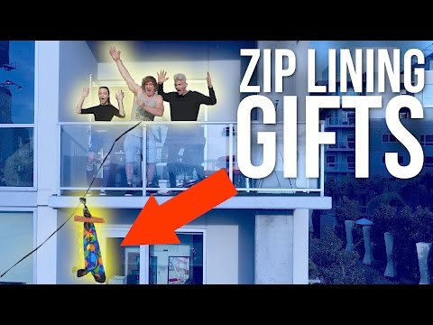 Thumbnail: SENDING GIFTS TO STRANGERS ON A ZIP LINE!