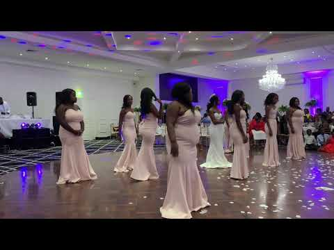 "Best African Bridal party dance battle TK & Michelle""s wedding #Teamnya"
