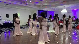"Best African Bridal party dance battle TK & Michelle""s wedding #Teamnya"