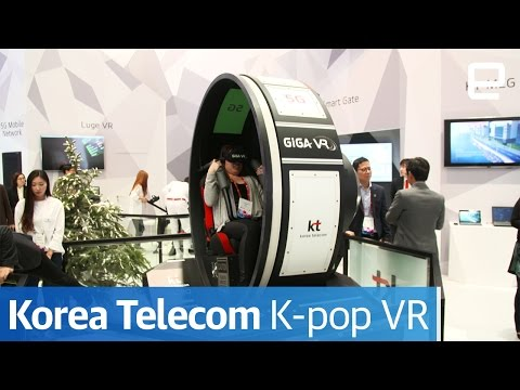 Korea Telecom K-Pop VR | Hands-On | MWC 2017