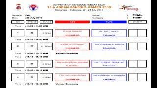 Pencak Silat 11th Asean Schools Games 2019 Live Streaming