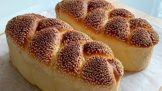 芝麻辮子手撕麵包 Sesame Braid Pull-apart Bread|BAKEwithCarmen