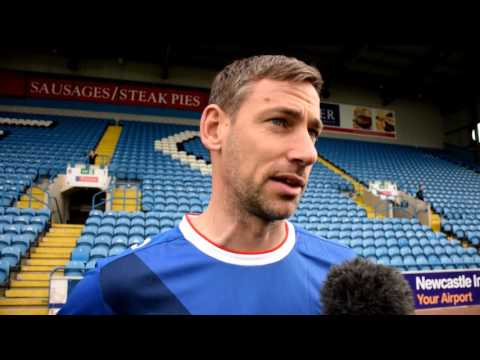 Former-Blue Rory Delap ahead of kick off on Sunday