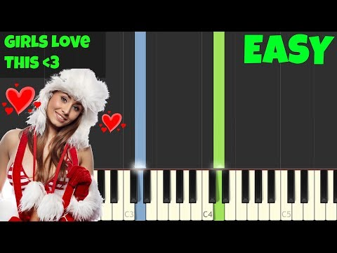 All I Want for Christmas Is You [Easy Piano Tutorial] (Synthesia/Sheet Music)