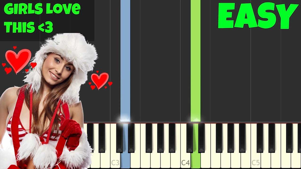 All I Want For Christmas Is You Piano Sheet Music With Letters.All I Want For Christmas Is You Easy Piano Tutorial Synthesia Sheet Music