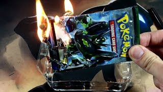 Pokemon Experiment: WHAT HAPPENS WHEN YOU BURN SEALED BOOSTER PACKS?