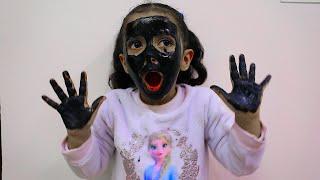 لولو وجهي و يدي سوداء ! ! my face and my hands are black