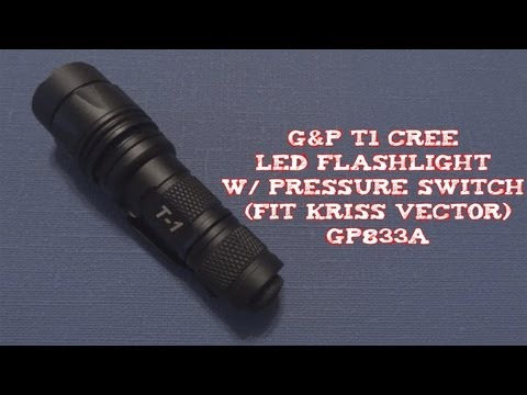 (Review) G&P T1 CREE LED Flashlight (Fit Kriss Vector)