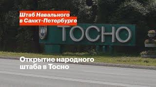 открытие народного штаба в Тосно