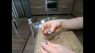 Заправка жидкости в электронную сигарету HAPUN-M(Перед заправкой жидкости обслуживаемого атомайзера, надо внимательно осмотреть старый фитиль. Если он..., 2015-11-23T09:19:11.000Z)