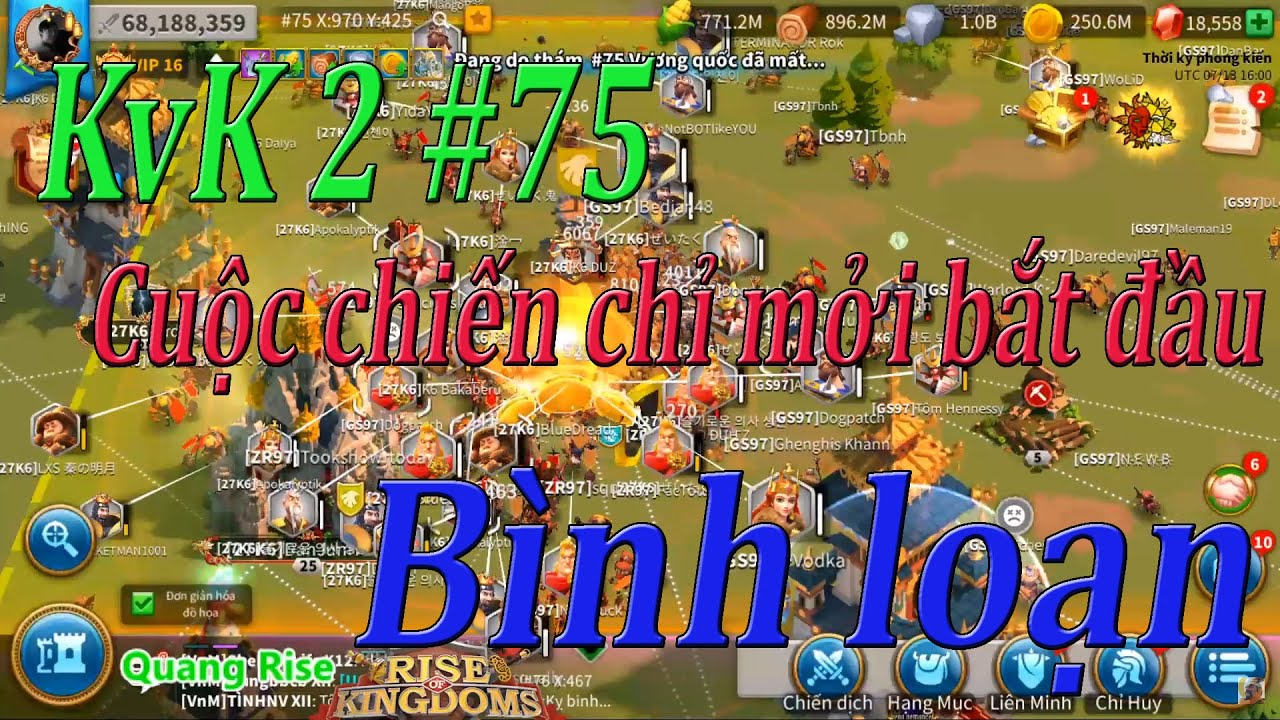 KvK 2 #75 21h40 VN - 1612,1627 vs 1597 - Giao tranh quyết liệt  | Rise of Kingdoms