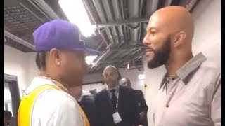 Iverson Gets Emotional After Meeting Common Can Barely Talk