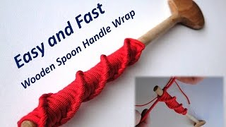 How to Make a Wooden House Spoon Handle Wrap- Paracord DNA Knot