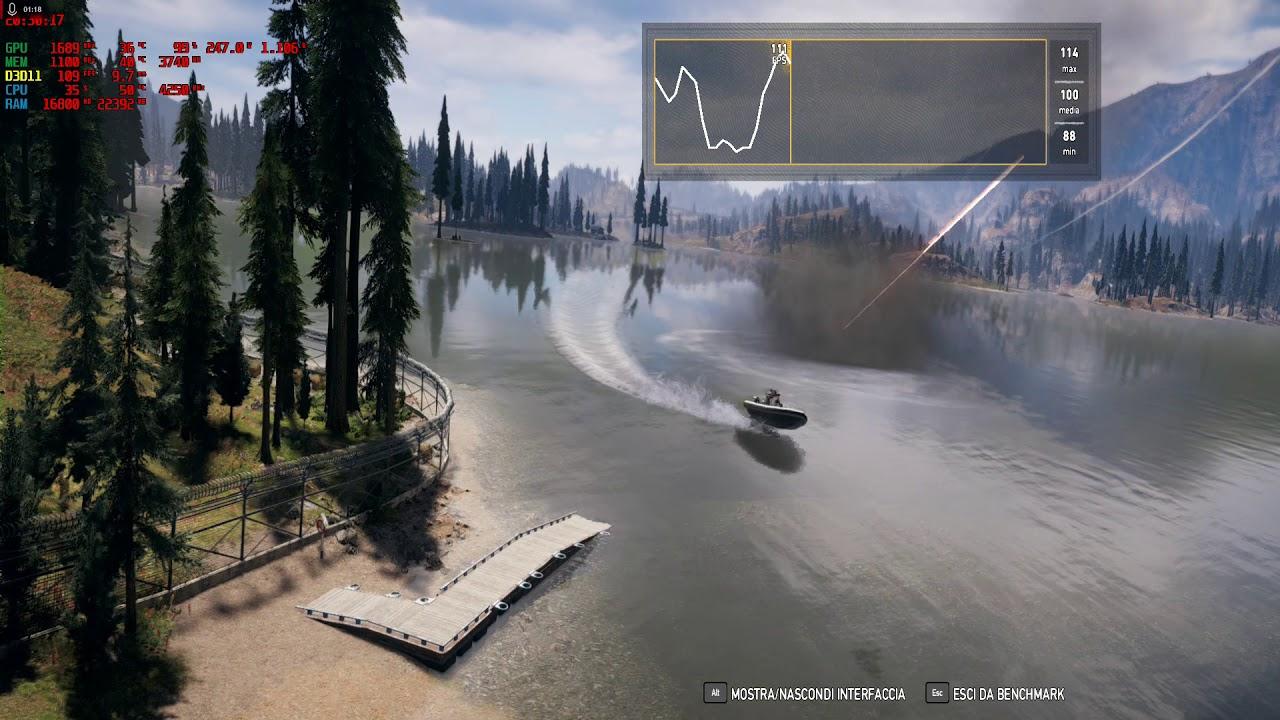 Far Cry 5 Benchmark 1920x1080 Vega 56 with Bios Vega 64 Custom Loop