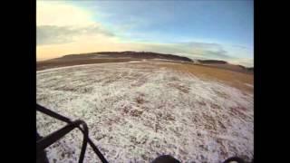 Тандемный полет на параплане в начале зимы
