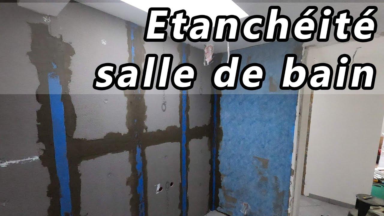 Étanchéité des murs de la salle de bain (douche / baignoire)