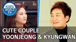 Cute couple, Yoonjeong and Kyungwan [Happy Together/2019.10.10]