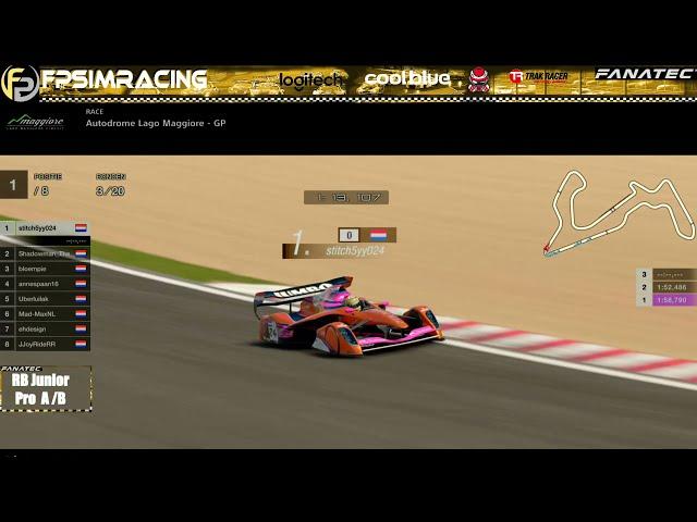 Livestream FP SimRacing RedBull Junior Pro A en B