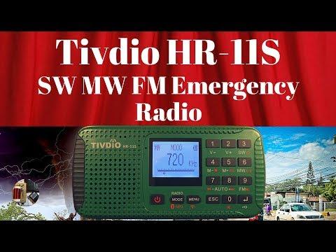 Tivdio HR-11S AM FM Stereo Shortwave BT MP3 Emergency Radio Review