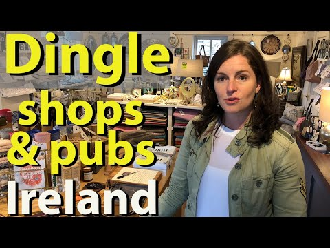 Dingle, Ireland, shops, pubs, restaurants and streets