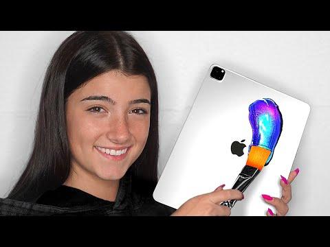 I Surprised Charli D'Amelio With 10 Custom iPad Pros & Macbooks!!📱💻 ft. Dixie D'Amelio (Giveaway)