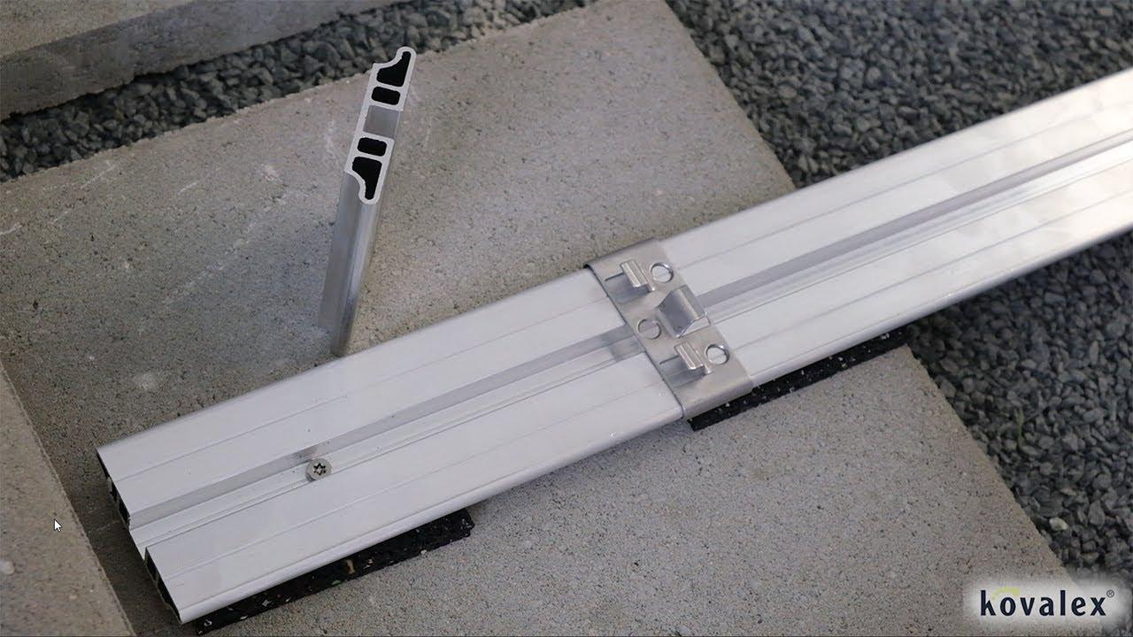 Kovalex Alu Unterkonstruktion Geeignet für WPC Terrassendielen ...
