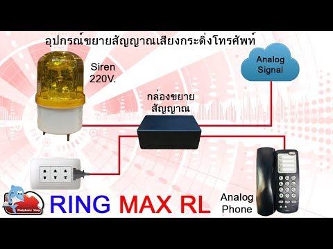 อุปกรณ์ Ring Max RL  เครื่องขยายเสียงกระดิ่งของโทรศัพท์รุ่นนี้มีทั้งเสียงและไฟไซเรน