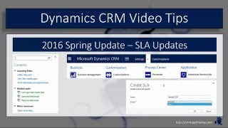 Dynamics CRM 2016 Spring Update - Part 1