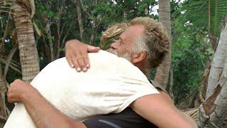 Stor glädje på Utposten när Robert Åhrman kommer på besök med en kista – Robinson (TV4)