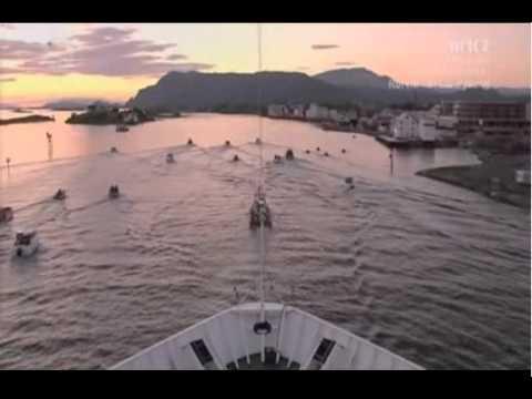 Hurtigruten Rørvik - Sandnessjøen Time lapse