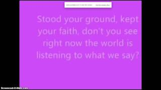 Sing - Gary Barlow - Lyrics - No Sound