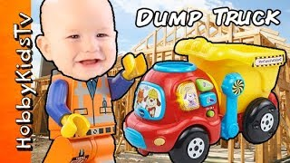 Vtech Drop and Go Dump Truck Baby Toy! HobbyDino Fun Toy Review HobbyKidsTV
