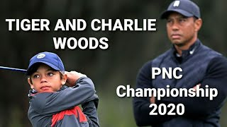 Tiger & Charlie Woods - Every televised shot - Hole 6 - 18 - PNC Championship 2020