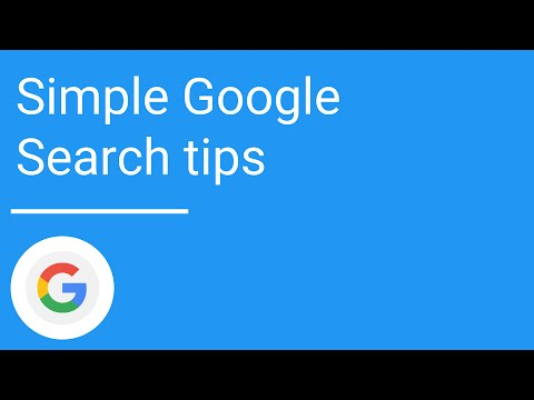 Simple Google Search tips