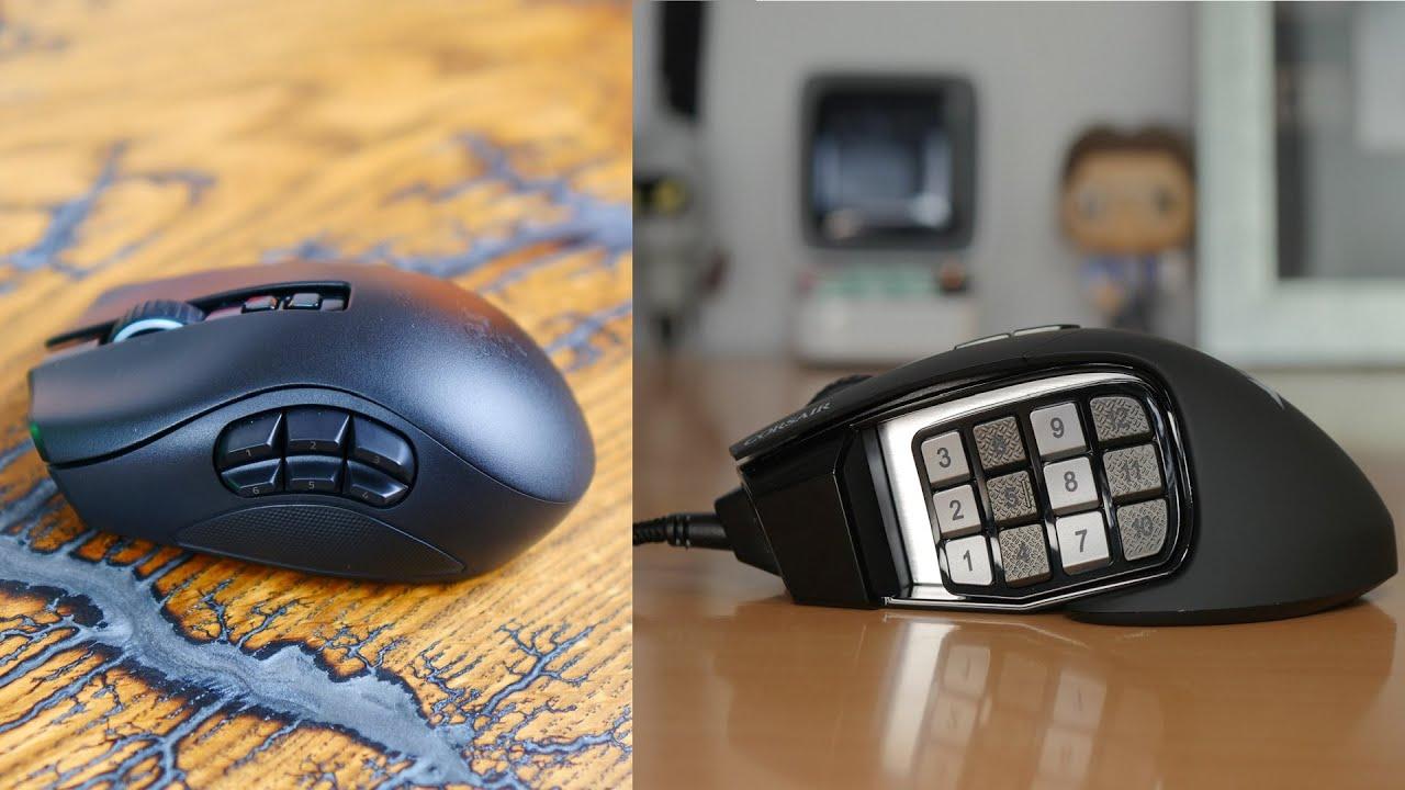 Download Razer Naga Pro vs Corsair Scimitar RGB Elite - expensive vs affordable