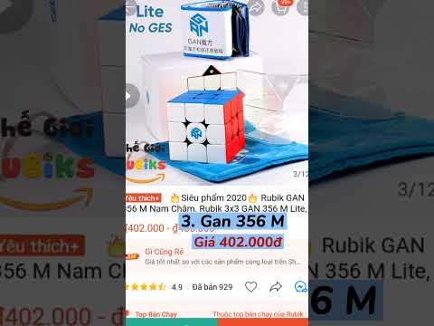 TỔNG HỢP các loại Rubik GAN 3x3 phổ biến và GIÁ RẺ nhất   Link dưới phần mô tả