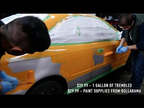 HOW TO PAINT A CAR WITH ROLLER 99 HONDA CIVIC