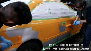 HOW TO PAINT A CAR WITH A ROLLER (99 HONDA CIVIC)