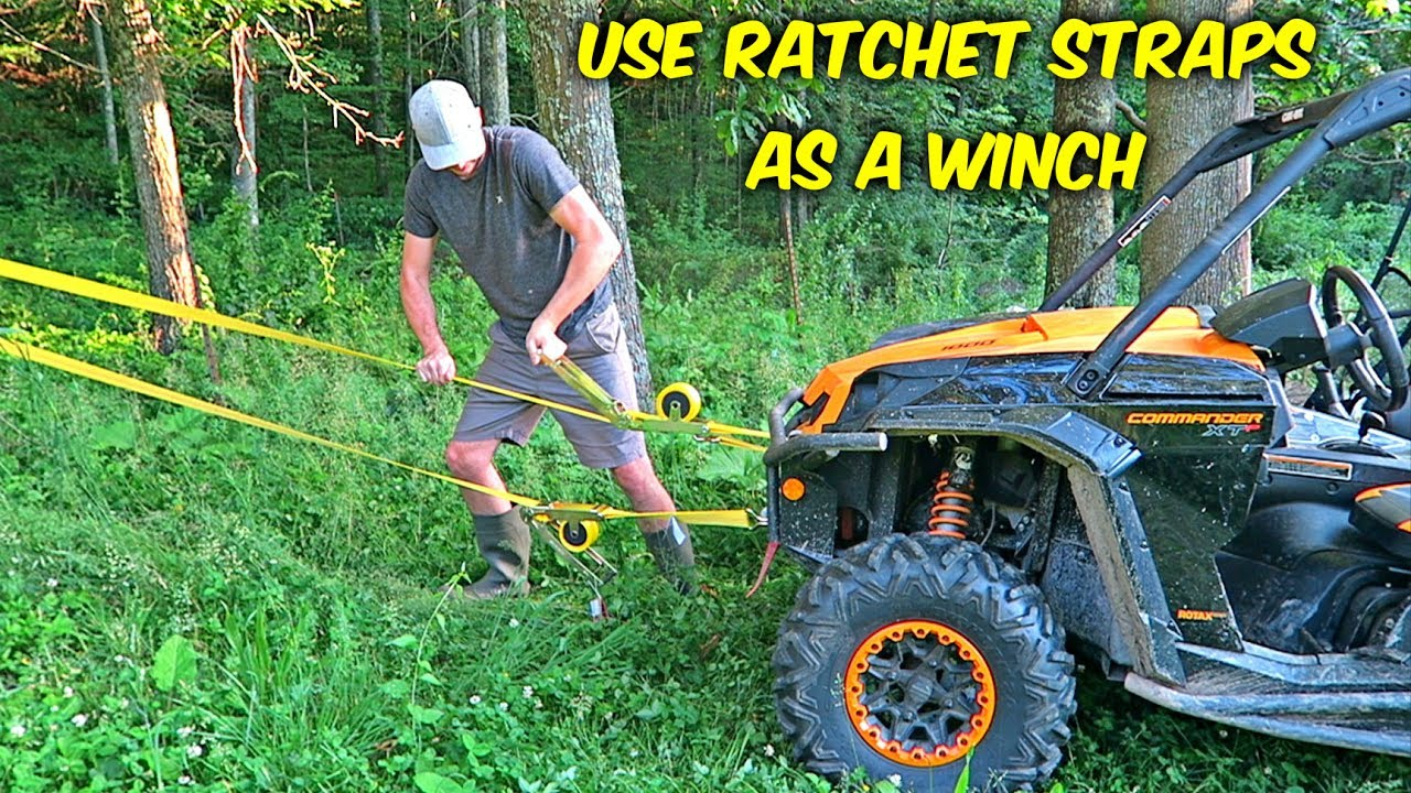 How To Use Ratchet Straps As A Winch