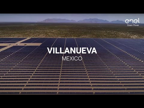 Enel Green Power solar photovoltaic plant in Viesca, Coahuila State (Mexico)