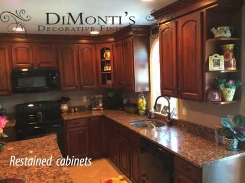 Kitchen Cabinet Refinishing 1/3 cost of replacing or refacing - YouTube