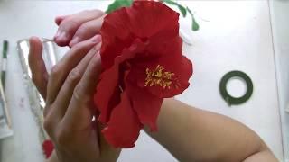 Алый гибискус (сахарный цветок)