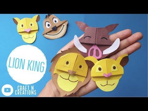 Easy Lion King Corner Bookmarks (Paper Crafts)